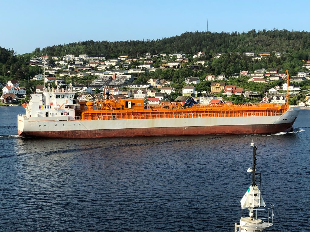 CO2 can be transported on boats like this one – Frøya.